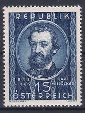 Ö 1949 - 50. Todestag Karl von Millöcker Postfrisch ** MNH ANK 959 € 35,--