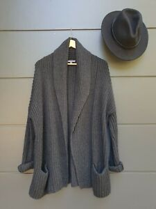 🌿VINCE Designer Charcoal Grey Knit Cardigan Size Small Excellent Condition🌿