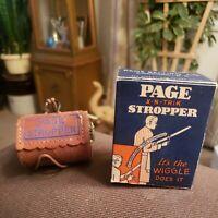 "Vintage 1926 Page ""X-N-Trik"" Stropper Razor Blade Sharpener"