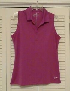 Nike Golf Tour Performance Dri Fit Pull Over Collared Sleeveless Top sz Large