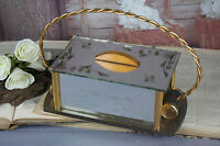 French ART DECO cookie jar biscuit box 1950 Venetian murano glass etched