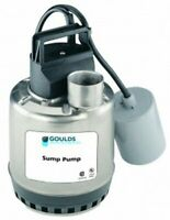 GOULDS LSP0311AT Submersible Sump Pump, Piggy Back Wide Angle Float Switch
