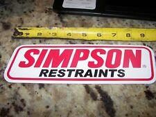 "Simpson Restraints - 9"" - NASCAR - NHRA Racing Contingency Stickers"