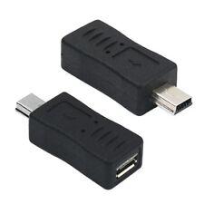 Adaptador micro USB hembra a mini USB macho  Negro