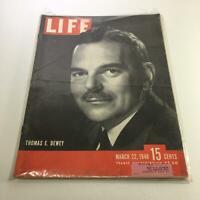 Life Magazine: March 22 1948 Thomas E. Dewey Cover