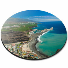 Round Mouse Mat - La Palma Canary Islands Beach Office Gift #16548