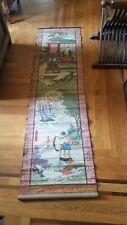 Very Old Rare Antique Japanese Hanging Scroll - Samurai