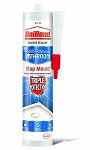 UniBond 02100806 Triple Protection Anti-Mould Sealant Cartridge, White, 300 ml