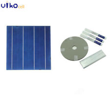 100Pcs Poly Solar Cell Kit 6x6 With Busbar Tabbing Wire For DIY Solar Panel