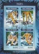 Timbres Animaux Félins Tigres Mozambique 3447/52 o de 2014 lot 23422 - cote:17 €