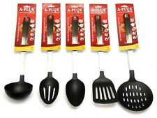 5 Pc Kitchen Cooking Utensil Set Serving Tools Spatula Spoon Nylon