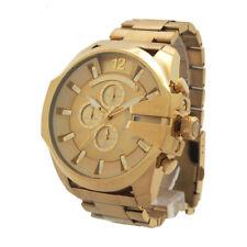 Diesel Mega Chief DZ4360 Wrist Watch for Men Gold
