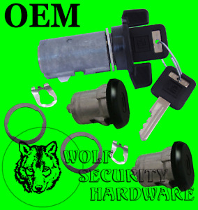 Blazer K5 79-91 Others Ignition & Door Lock Cylinder Tumbler Set Black 2 GM Key
