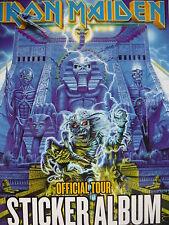 IRON MAIDEN METAL HAMMER - OFFICIAL TOUR STICKER ALBUM 2008