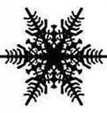 20 water slide nail art transfer decals Christmas black snowflake 3/8 inch