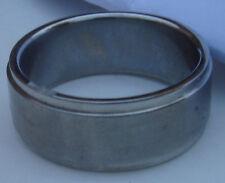 § bijoux  : bague acier anneau brossé taille diametre intérieur 20mm