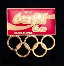 Coca Cola Olympic Pin Badge~Sponsor~undated~Coke~5 rings