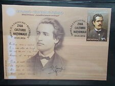 2014 - Romania - M.Eminescu The Morning Star of the Romanian Poetry, FDC