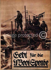 WW1 German Military Propaganda Poster Submarine Fund 18x24