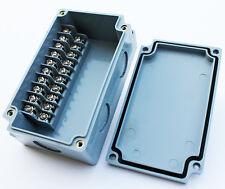 TERMINAL BLOCK ENCLOSURE, 10 POSITION, 10 AMP, IP65, 110X65X45mm, GRAY, 1007