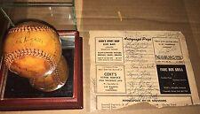 1955 Minneapolis Millers Team Signed Baseball & Autographed Scorecard Sheet