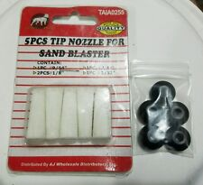 Nozzle 5pack for Abrasive Blaster for Fine Abrasives with Nozzle Seals