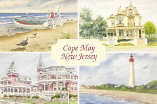 Postcard: Cape May, New Jersey, USA - Four Art Images Montage (1999)