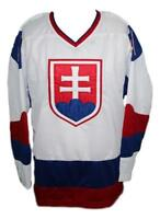 Custom Name # Team Slovakia Retro Hockey Jersey New White Halak Any Size