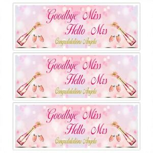 HEN DO PARTY BRIDE TO BE PINK PROSECCO CHAMPAGNE BANNER  WALL DECORATIONS