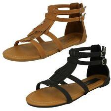 Ladies Spot On Tassle Detail 'Sandals'