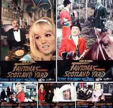 FANTOMAS CONTRE SCOTLAND YARD Italian fotobusta movie posters x10 LOUIS DE FUNES