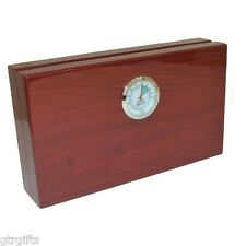 Mini Cigar Humidor High Gloss Red With Humidifier & Hygrometer HUH004