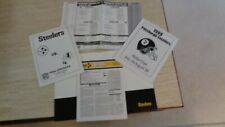 Pittsburgh Steelers Media Package for 8/28/99 Game VS Washington Redskins - NFL