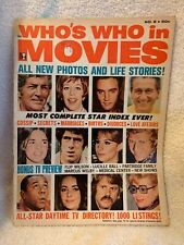 VINTAGE ELVIS MOVIE MAGAZINE WHO'S WHO IN MOVIES ELVIS LUCY MORE BOOK
