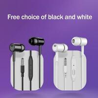 Super Bass Headset 3.5mm In-Ear Earphone Stereo Earbuds Headphone Wired Mic NEU