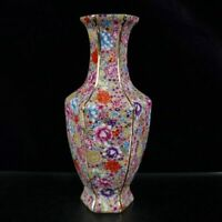 Chinese Handmade Exquisite Cloisonne Enamel hundred Flowers Porcelain Vase