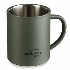 Insulated Thermal Military Army Camping Hiking Steel Mug Cup 300ml Green