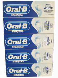 5 Tubes Oral B complete toothpaste plus Mouth Wash - 75ml Mint - Free Delivery