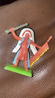 VINTAGE BRITAINS DEETAIL TOY RED INDIAN CHIEF FIGURE SOLDIER TOY 2