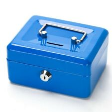 "4.5"" Small Money Box Petty Cash Box Key Lock Strong Metal Coin Slot 2 Keys Kids"