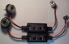2x BA15S P21W 1156 Bombilla LED Resistor de carga decodificador de cancelación de advertencia OBC Adaptadores
