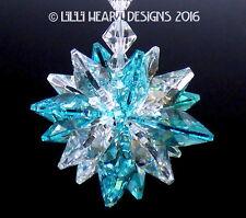 m/w Swarovski Mini Super Star 16 Octagons Aqua Suncatcher Lilli Heart Designs