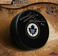 TIGER WILLIAMS Signed Toronto Maple Leafs Autograph Style Puck