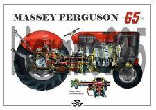Vintage Massey Ferguson Tractor 65 35 Poster Brochure Leaflet A3 VERY RARE