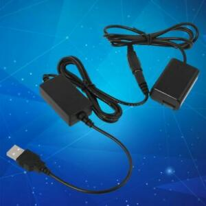 2A USB to NP-FW50 Dummy Battery Power Adapter for Sony A7 A7R A7S A7II A7RII