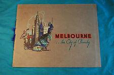 Melbourne The City of Beauty Souvenir Photo Book circa 1940