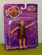 MATTEL CARDED THE FLINTSTONES BENDABLE FIGURES BARNEY