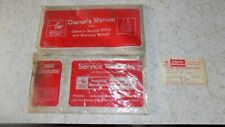 1970 AMC HORNET FLEET IDENTIFICATION CARD LATER DAY SAINTS OWNERS MANUAL POUCH