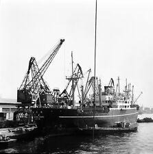 ATHÈNES c. 1950 - Cargo Japonnais Le Pirée Grèce - Négatif 6 x 6 - GRE 130
