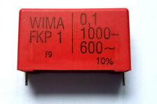 0.1uf ( 100000pf 100nf ) 1000vdc (600vac)  10%   Polypropylene Wima FKP1